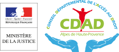 Conseil Départemental de l'Accès au Droit des Alpes-de-Haute-Provence Logo